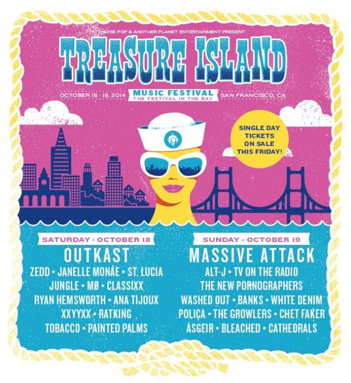 treasure island single day lineups 2014